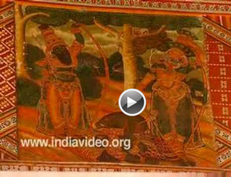 Murals guruvayur temple arts kerala india video for Asha mural painting guruvayur